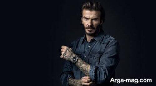 دیوید بکهام - ژست عکاسی مردانه سلبریتی ها و مدل ها و افراد معروف مثل فوتبالیست ها